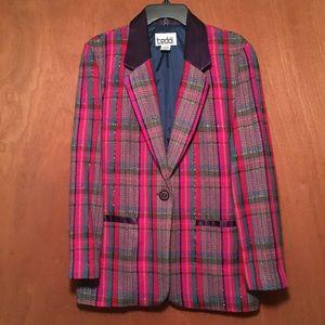 Teddi Women's blazer jacket size S pink purple